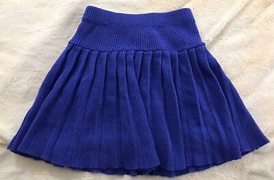 Girl's Vintage HEARTWORKS Purple Pleated Short Knit Sweater Skirt | Size 10 12