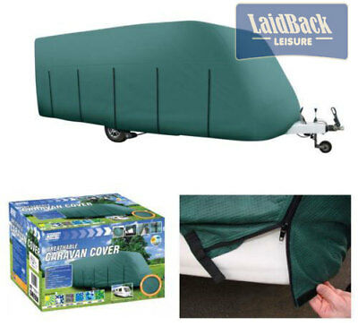 Maypole MP9536 Quality Breathable Full Caravan Cover.Green 6.8>7.2m