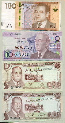 Morocco - Lot Of 4 Bank Notes Vf