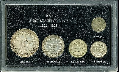 Russia: USSR First Silver Coinage 1921 - 1923