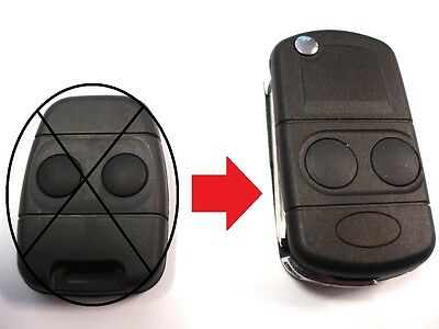 2 Button Flip Key Upgrade for Land Rover Discovery Freelander remote key fob
