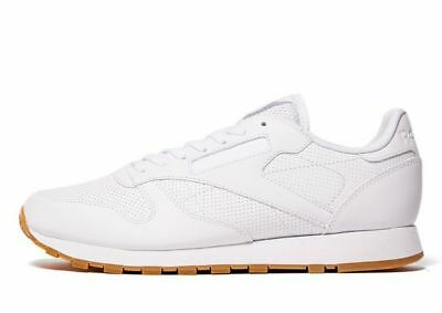 Reebok Classic Leather Perforated, Men's Trainer (UK 6-13) White Brand New In Bx
