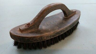 Rare Vintage Wooden and Bristle Shoe Brush - 'Gordon Brand, English Made'