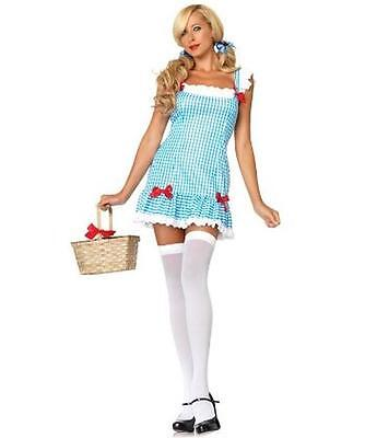 Leg Avenue Dorothy ~ New $59 Blue u0026 White Wizard Of Oz Halloween Costume M/  sc 1 st  PicClick & LEG AVENUE DOROTHY ~ Blue u0026 White Wizard Of Oz Halloween Costume M/l ...