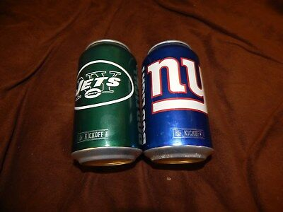 2016 NFL NEW YORK JETS AND GIANTS Bud Light Kickoff Beer Cans ONE OF EACH Empty