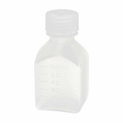 60ml PP Plastic Square Sample Reagent Bottle Sealing Canister Clear