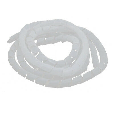 22mm Dia. Flexible Spiral Tube Cable Wrap Computer Manage Cord Transparent 4 M