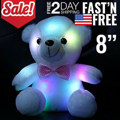 Toys For Girls LED Stuffed Bear Toy Kids Night Light Lamp Year Old Girl Cool Toy