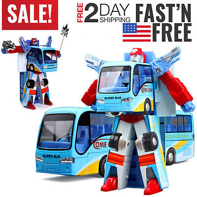 Toys For Boys Robot Bus Kids Toddler Robot 3 4 5 6 7 8 9 Year Old Age Cool Toy