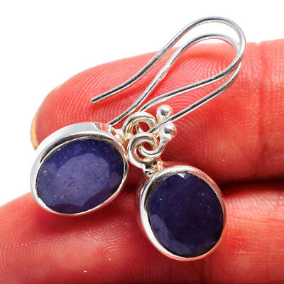 "Tanzanite 925 Sterling Silver Earrings 1 1/4"" Ana Co Jewelry E358539F"