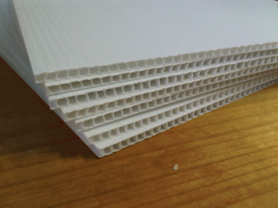 5MM White color corflute board 1220mmx2440mm