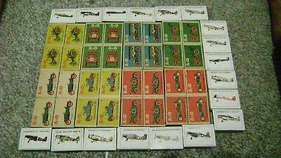 fifty antique match box collection