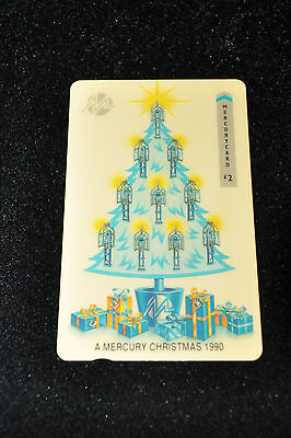 Mercury Phonecard A Mercury Christmas 1990 Used