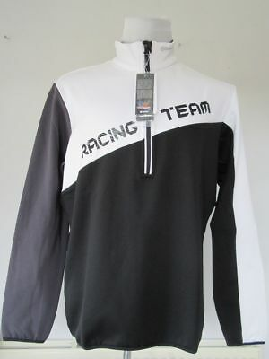 COLMAR Mens Black & White 1/2 Zip Ski Racing Team Fleece Lined Pullover XXL BNWT