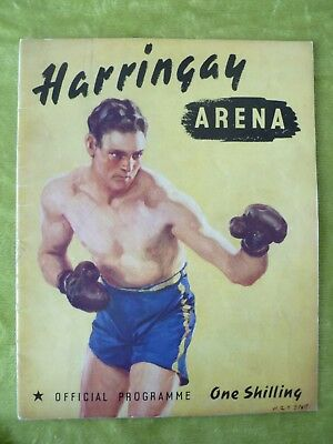 Vintage Boxing Programme: LEN HARVEY v LARRY GAINS 1939