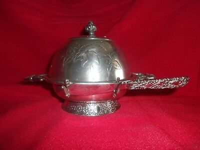 vintage silver butter dish