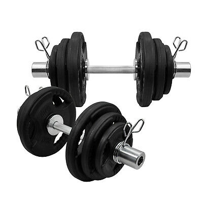43kg & 58kg Olympic Dumbell Set - Rubber Coated Iron Plate Dumbbell Weight Set