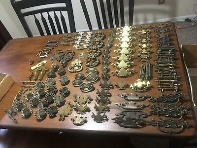 Vintage Drawer Pull Lot 130+ Bulk LOOK! w/ Brass French Provincial - Some Ornate