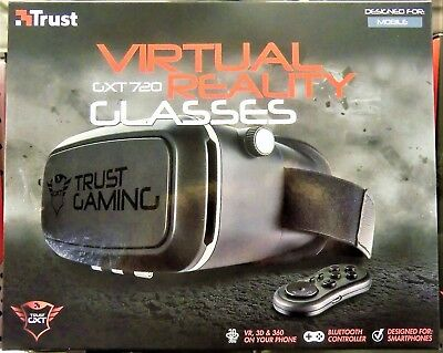 Trust Gaming 21322 GXT 720 3D-Virtual Reality-Brille für Smartphone - NEU + OVP