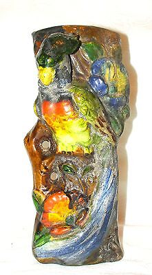 "Parrot Wall Pocket Hanging Planter Vase ""Made in Japan"" Vintage"