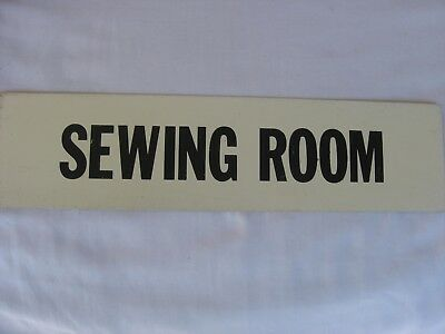 Vintage Antique 20s-30s-40s? Early Old Textile Mill Signs SEWING ROOM