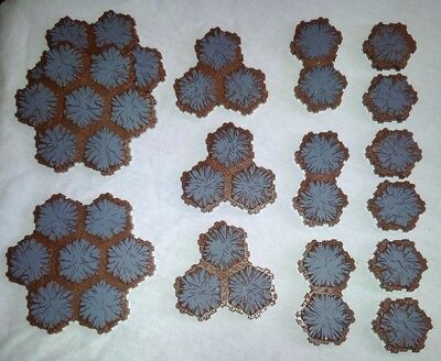 HEROSCAPE Lot of 17 Rock Tiles for Parts Extensions 90 hexes total 24 7 3 2 1