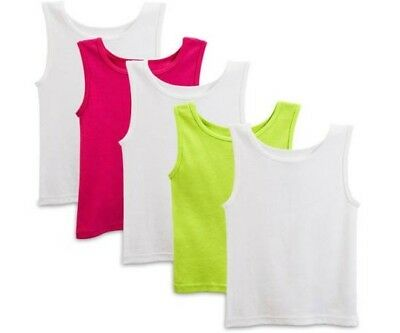 5 Pack of Fruit of the Loom Little Girls' Tank Tops - 2T-3T