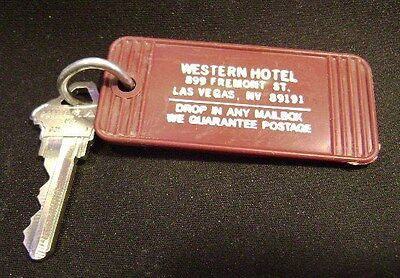 Western Hotel Casino, Fremont St. Downtown Las Vegas,  Room Key & Fob