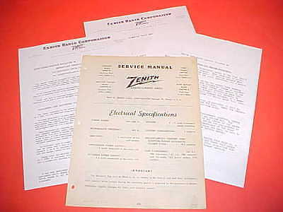 1947 1948 Ford Mercury Export Convertible Coupe Zenith Am Radio Service Manual
