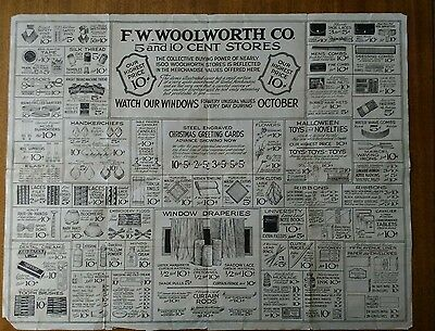 1930 F.w. Woolworth 5 & 10 Store Advertising Mailer