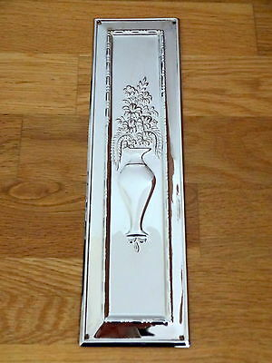 Set Of 10 Nickel Plated Arts & Crafts Finger Door Push Plates Fingerplate