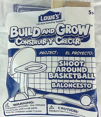 Lowes Build And Grow Tabletop Basketball Kit NIP Shoot Around Summer Project