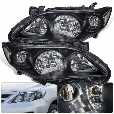 2011 2012 2013 Toyota Corolla Black Driving Headlight Clear Reflector Corner Len