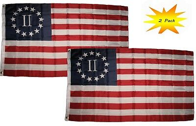 3x5 3'x5' Wholesale Set (2 Pack) Historical Nyberg Betsy Ross II 2% Flag Banner