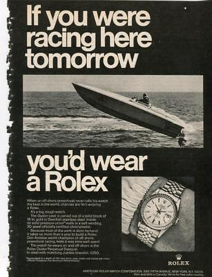 Rolex Vintage Print Ad Rolex Oyster Perpetual Datejust Don Arrow Powerboat Champ