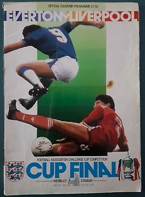 1986 F.A.Cup Final Programme Everton FC vs Liverpool FC - Mereyside Derby