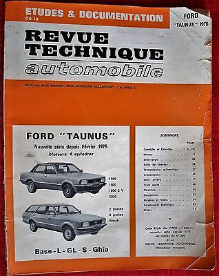 Revue Technique Auto Ford Taunus 1976