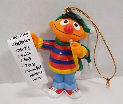 Sesame Street Collectible Christmas Ornament Ernie Christmas List Jim Henson