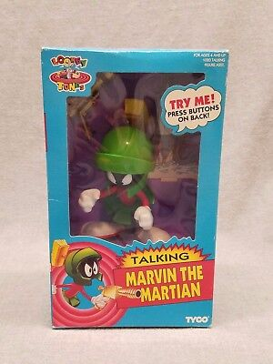 Marvin the Martian Talking Tyco Looney Tunes bugs bunny New in box 1993