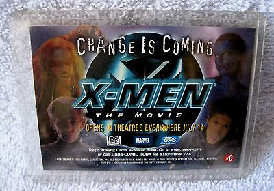 Rare - Promotional - Trading Card Advertisement - X-Men The Movie - Mint - Wow!