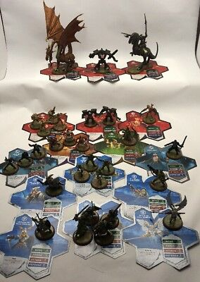 Heroscape Rise Of The Valkyrie Figure Lot Of 30 With 16 Cards - No Terrain