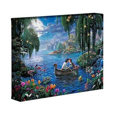 The Little Mermaid II Thomas Kinkade Disney 8 x 10 Wrapped Canvas