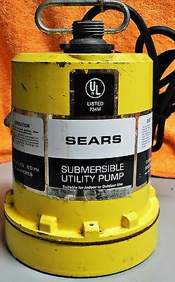 Vintage Sears Submersible Utility Pump 563.26931 USA Made