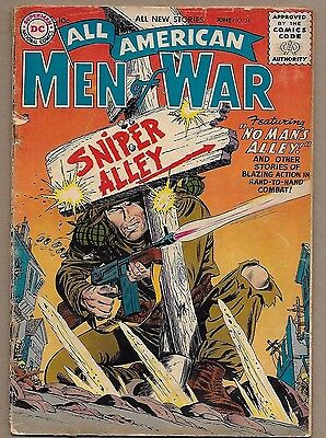 All American Men of War #34~Sniper Alley~Easy Co Gunner Prototype~Scarce DC 1956