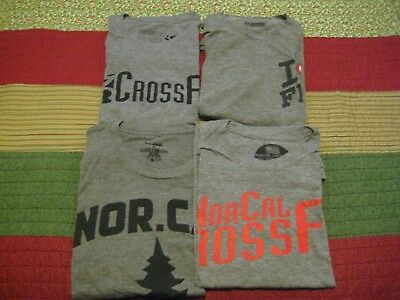 lot of 4 CrossFit T-shirts NORCAL XL grey pre owned