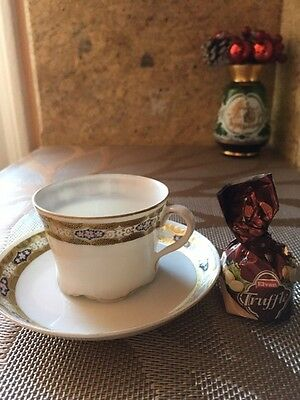 Antique Imperial Russian  Porcelain Kuznetsov Miniature Cup  Bone China