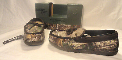 10964a252a1b7 Western Chief Mens Realtree Camo Slippers W/ Sherpa Lining, Size 10, New