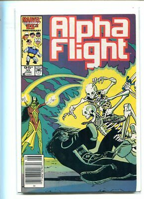 Alpha Flight #35 Hi Grade 9.0 Terrifying Cover Canadian Price Variant