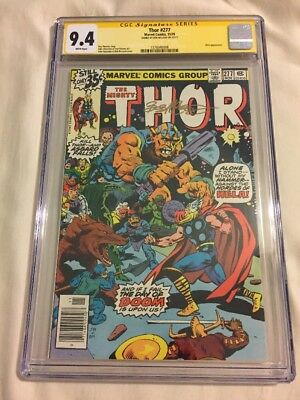 Thor #277 Cgc Ss 9.4 Nm Signed By Bob Mcleod. Marvel 1978 Loki, John Buscema Art