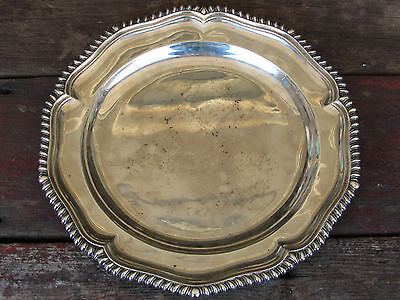 FANTASTIC ANTIQUE ca. 1799 GEORGE III-GEORGIAN STERLING SILVER-CHARGER-PLATE